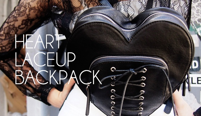 HEART LACEUP BACKPACK