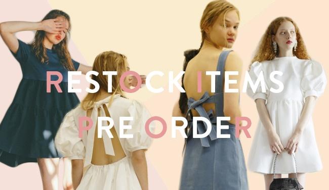 restock items preorder